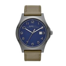 Jimmy olive leather mens watch