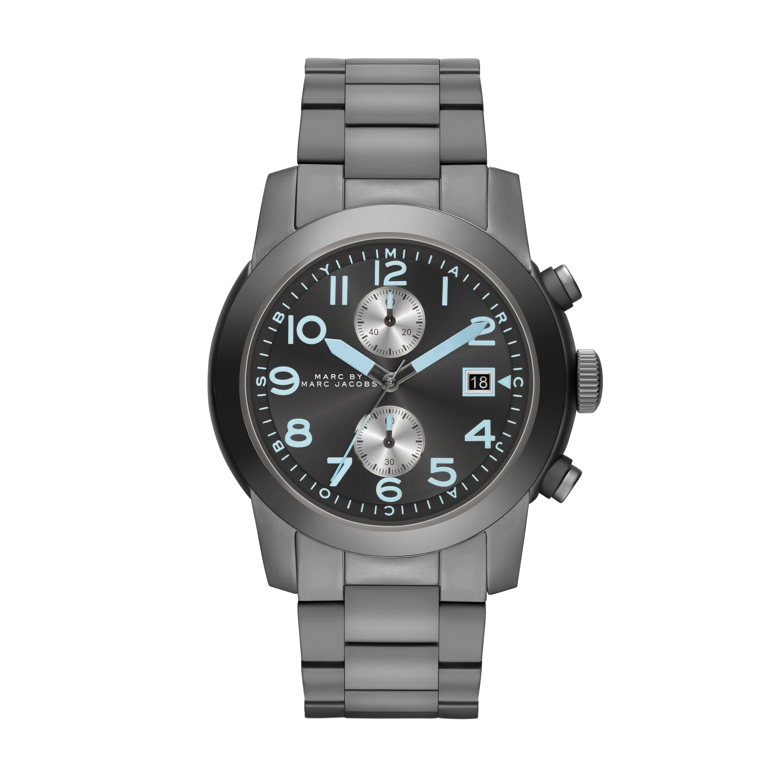Larry gunmetal mens military watch