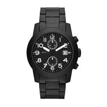 Larry black velvet mens military watch
