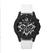 Rock white silicone mens sports watch
