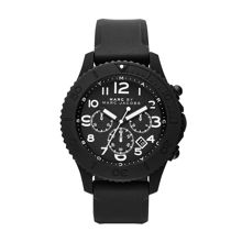 Rock black silicone mens sports watch