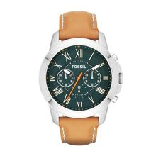 FS4918 Grant mens tan leather sport watch
