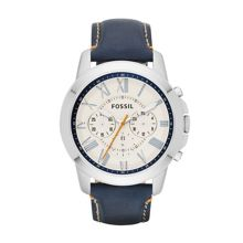 FS4925 Grant Mens dark blue leather sport watch