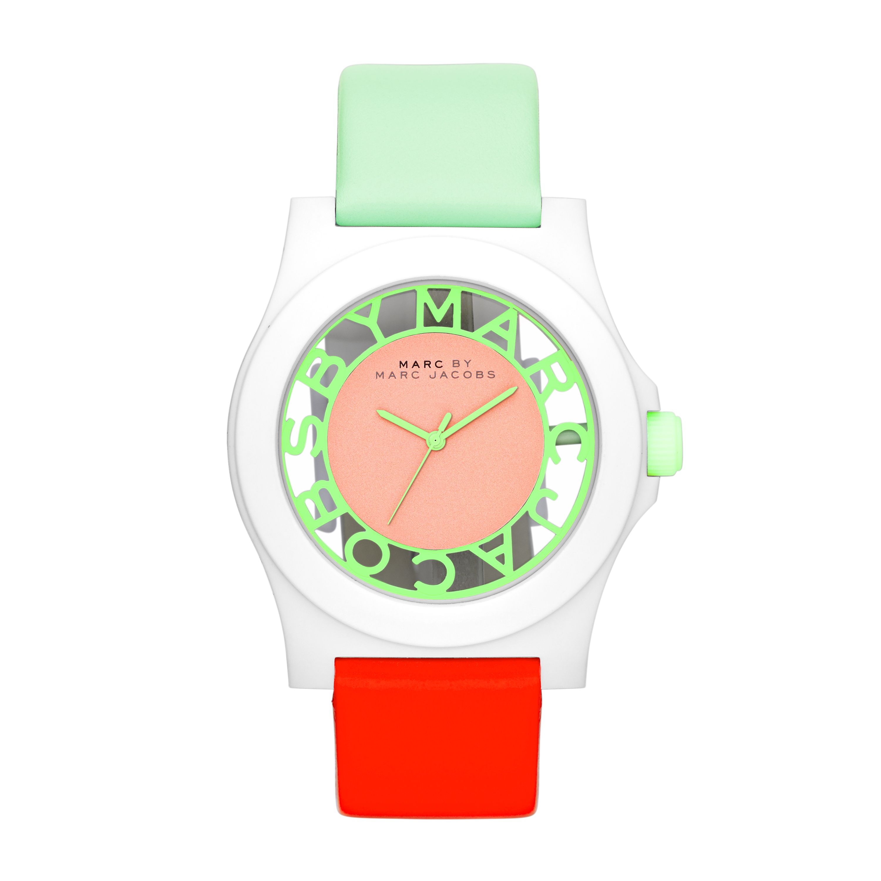 MBM4020 Henry ladies fluoro coral mint watch