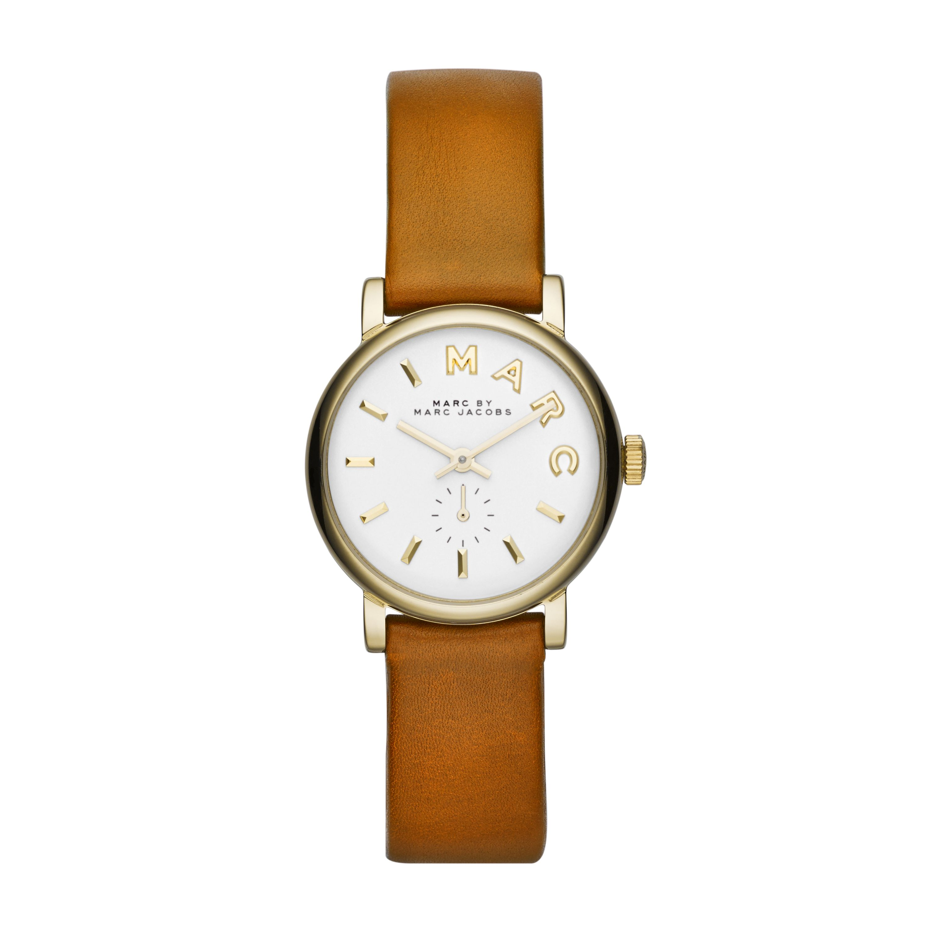MBM1317 Baker ladies calf leather gold watch