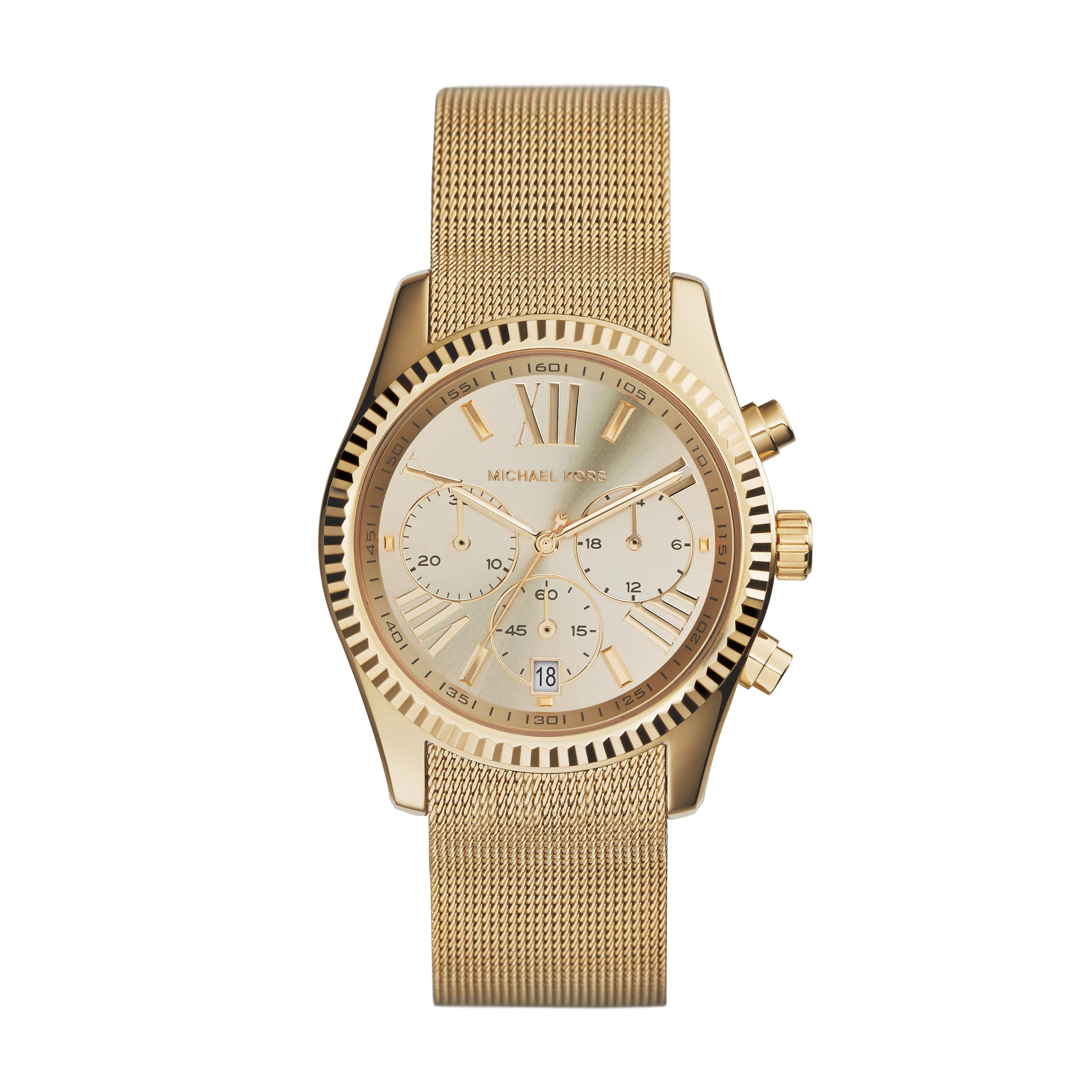 MK5938 Ladies gold mesh bracelet sport watch