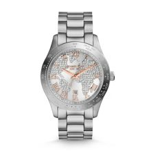 Layton Silver Pave Dial Ladies Watch