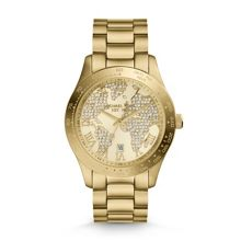 Michael Kors Layton Gold Pave Dial Ladies Watch