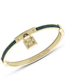 Brilliance Gold & Blue Padlock Bracelet