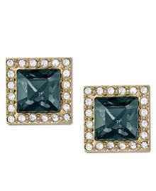 Brilliance Gold Pave Stud Earrings
