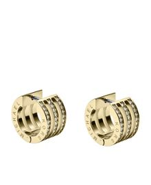 Brilliance Gold Crystal Stud Earrings