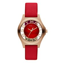 MBM1338 Womens Red/Rose Gold Strap Watch