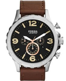 Fossil JR1475 Mens Brown Strap Buckle Watch