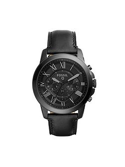 Fossil Q FTW10013 q grant black leather watch