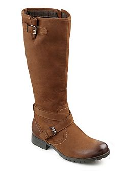 Ladies adjustable calf fitting boot