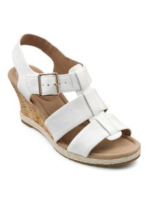 Hotter Roxanne cushioned wedge and buckle