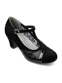 Georgette ladies stylish t bar heel