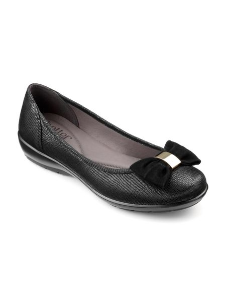 Hotter Alice ladies leather ballernia pump