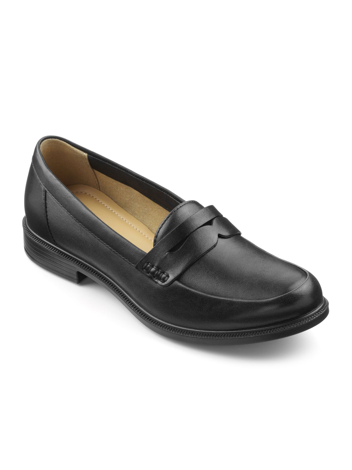 Hotter Dorset Smart Loafer Shoes, Black