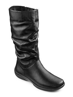 Mystery full zip calf boots