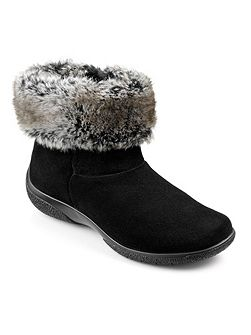 Romance faux fur collar ankle boots