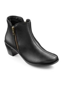 Hotter Samia ladies dual zip ankle boot