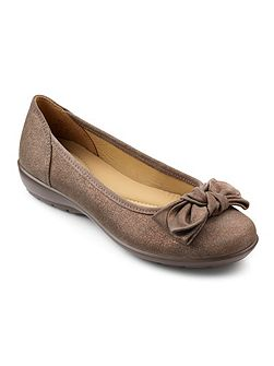 Jewel bow front ballerina shoes