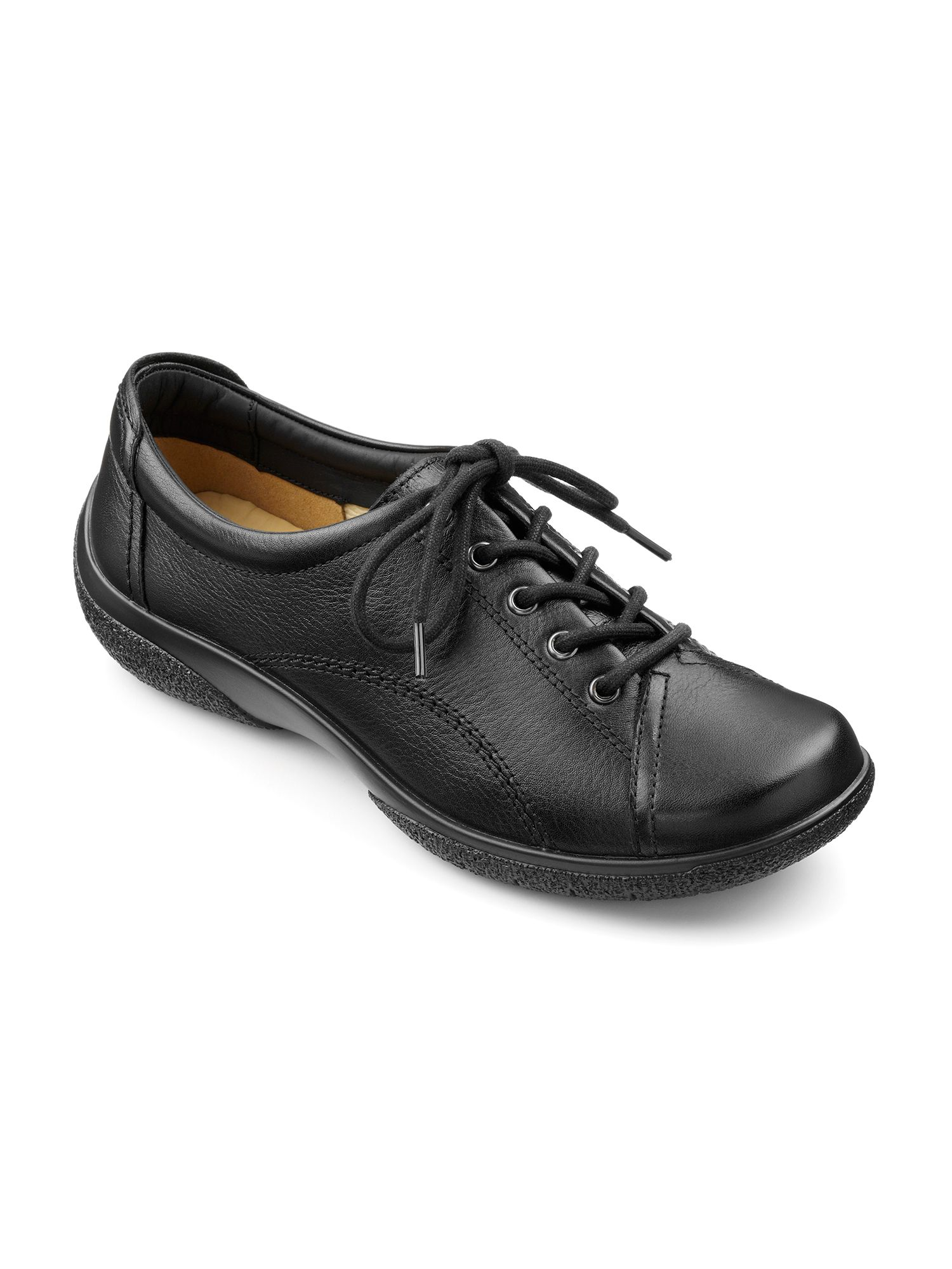 Hotter Dew original extra wide shoes, Black