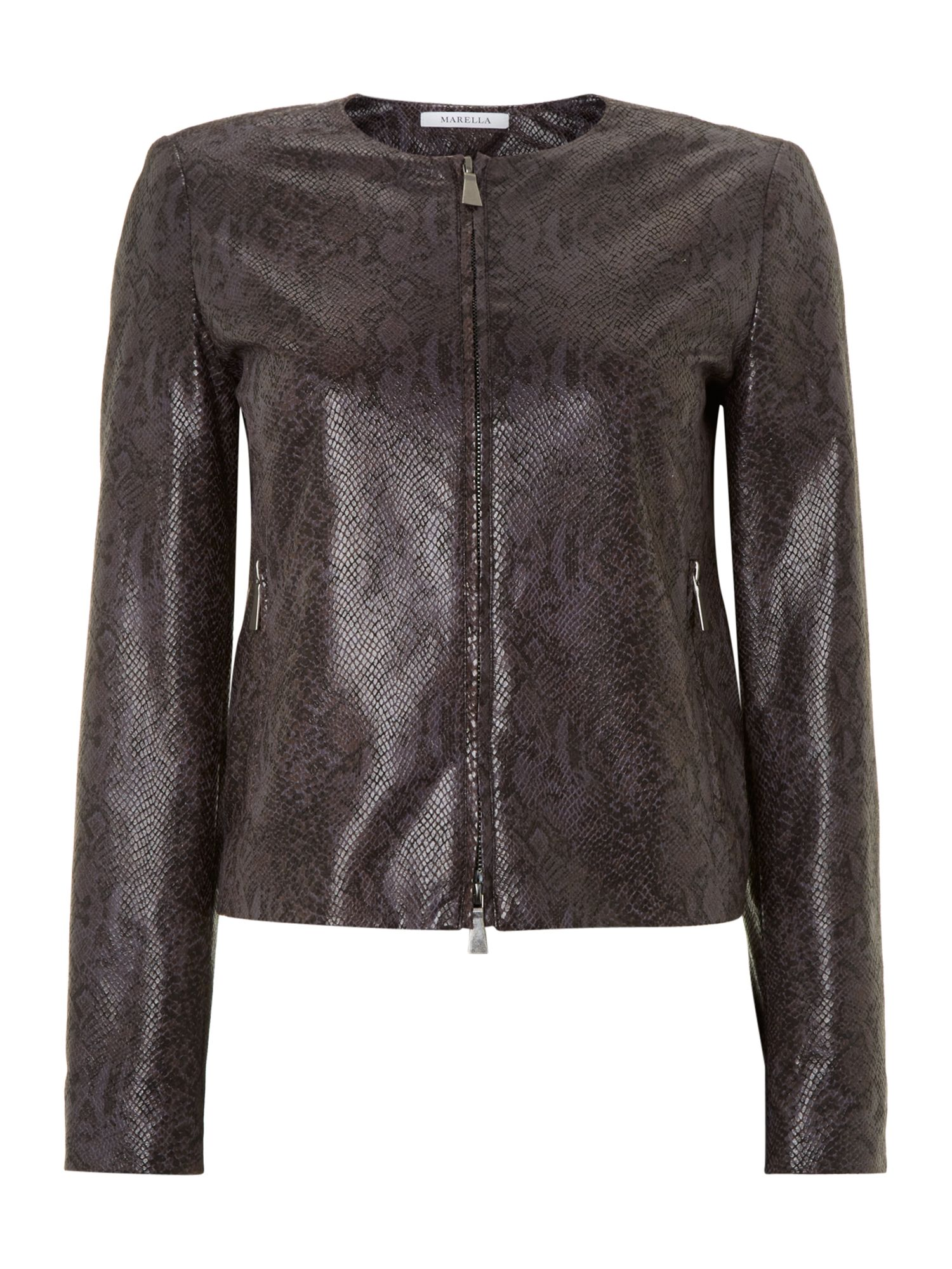 Ida eco leather snake print jacket