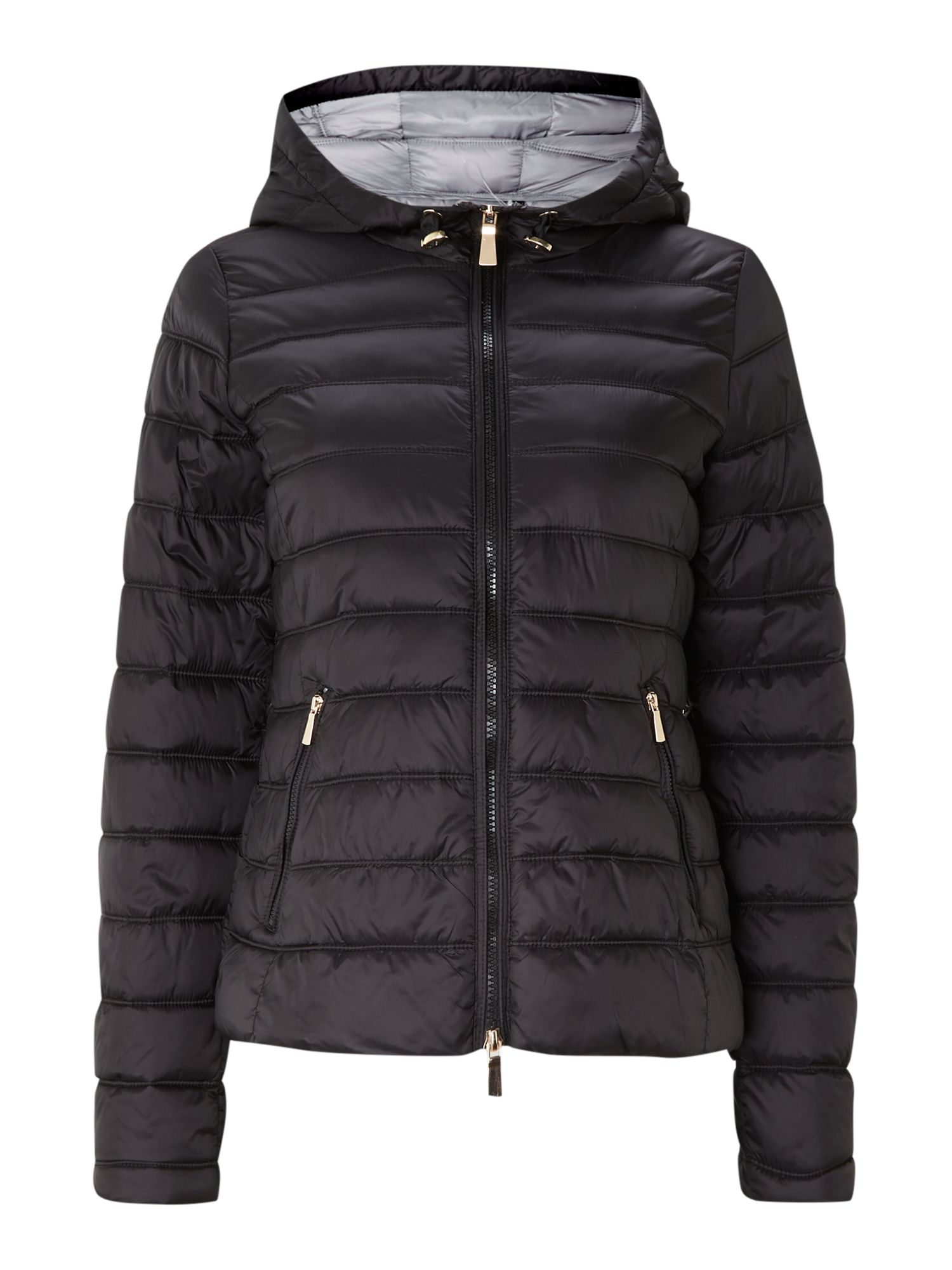 Decode padded hooded jacket