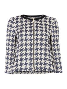 Marella Felice houndstooth check short jacket