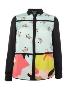 Persona Bebop contrast printed shirt