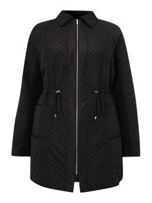 Tram long quilted jacket