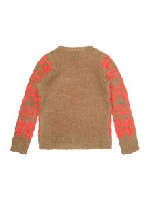Girls Long Sleeve Fairisle Jumper