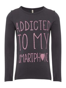 Girls Addicted To My Smartphone Long Sleeved Tshi