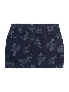 Girls printed 2 pock skirt