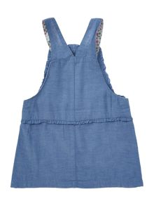 Benetton Baby Girls Pinafore Chambray Dress