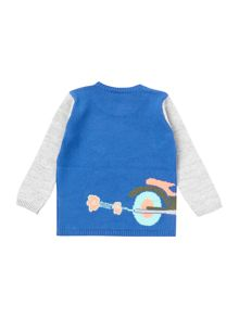 Benetton Baby Boys Broom Motorbike Jumper