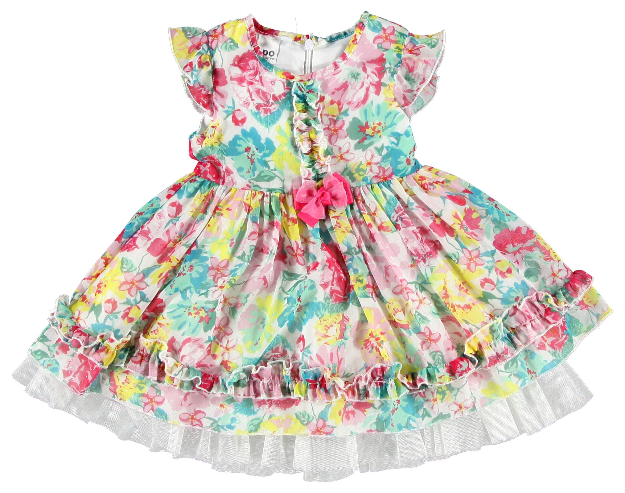 Girl`s flowery dress