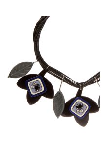 Max Mara Uva flower necklace