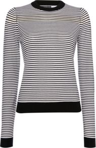 Sportmax Code Vito stripe sheer long sleeve sweater