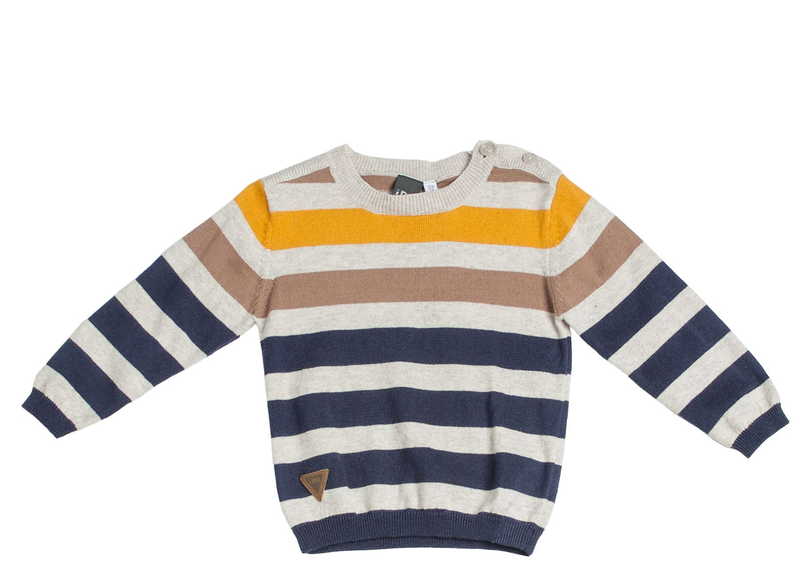 Boy`s striped roundneck knitwear