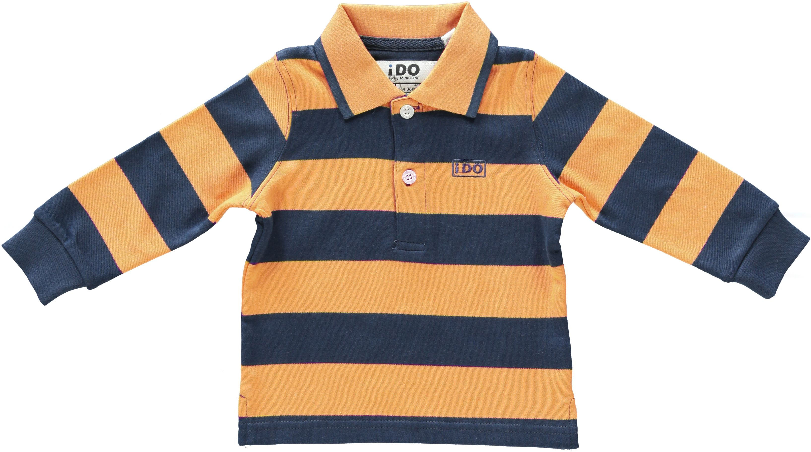 Boy`s striped rugby shirt