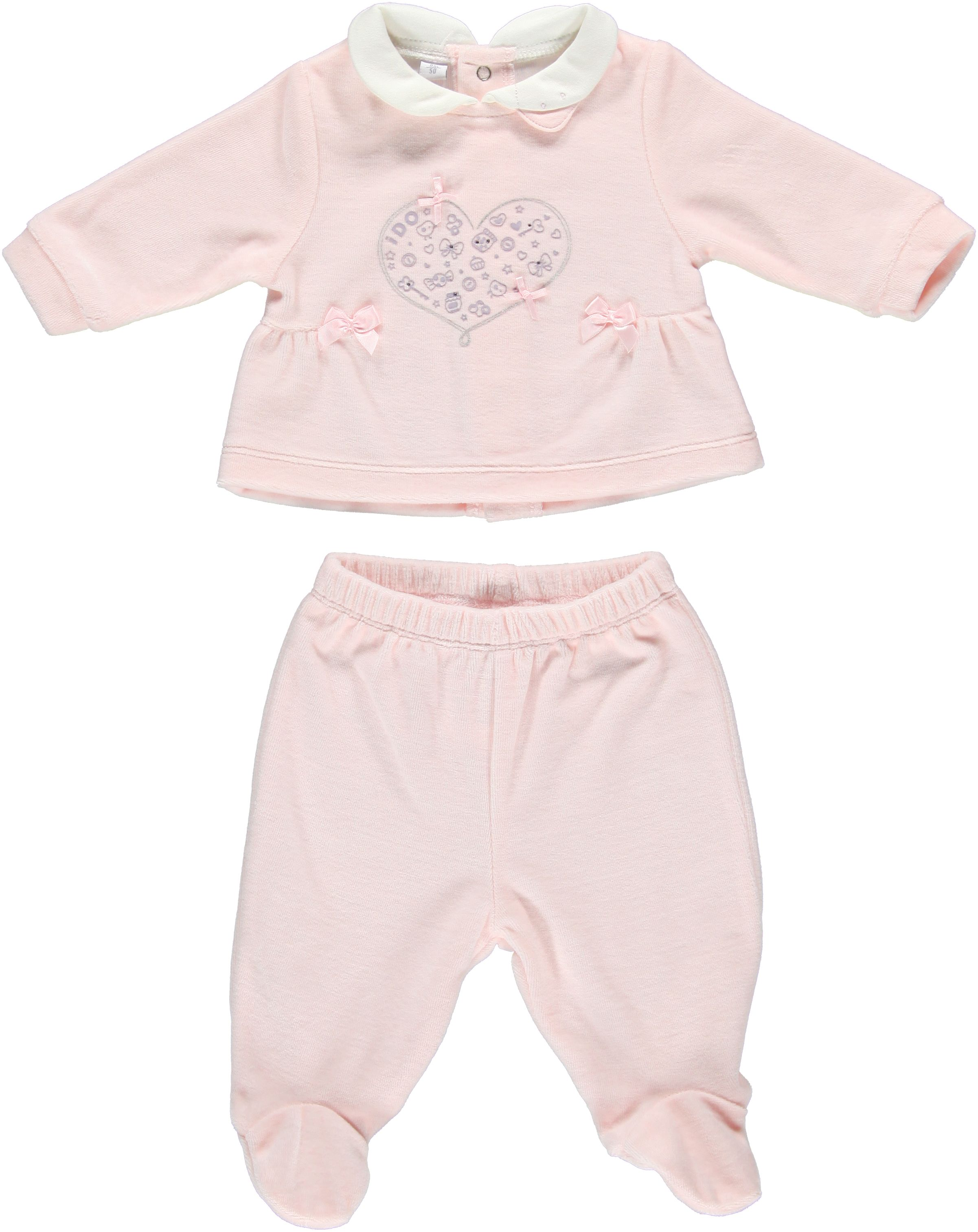 Girl`s embroidered chenille set