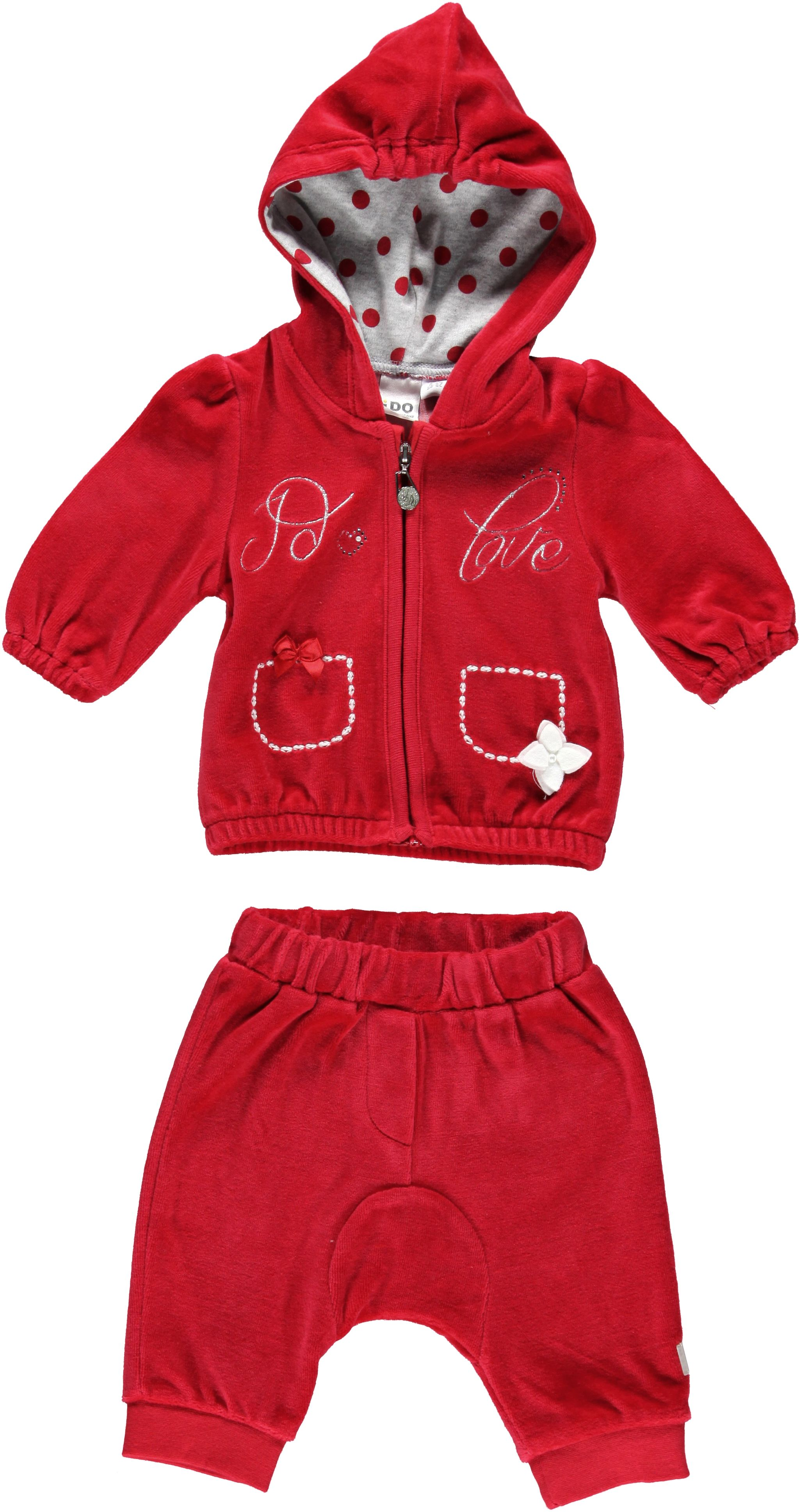 Girl`s funky chenille two piece set