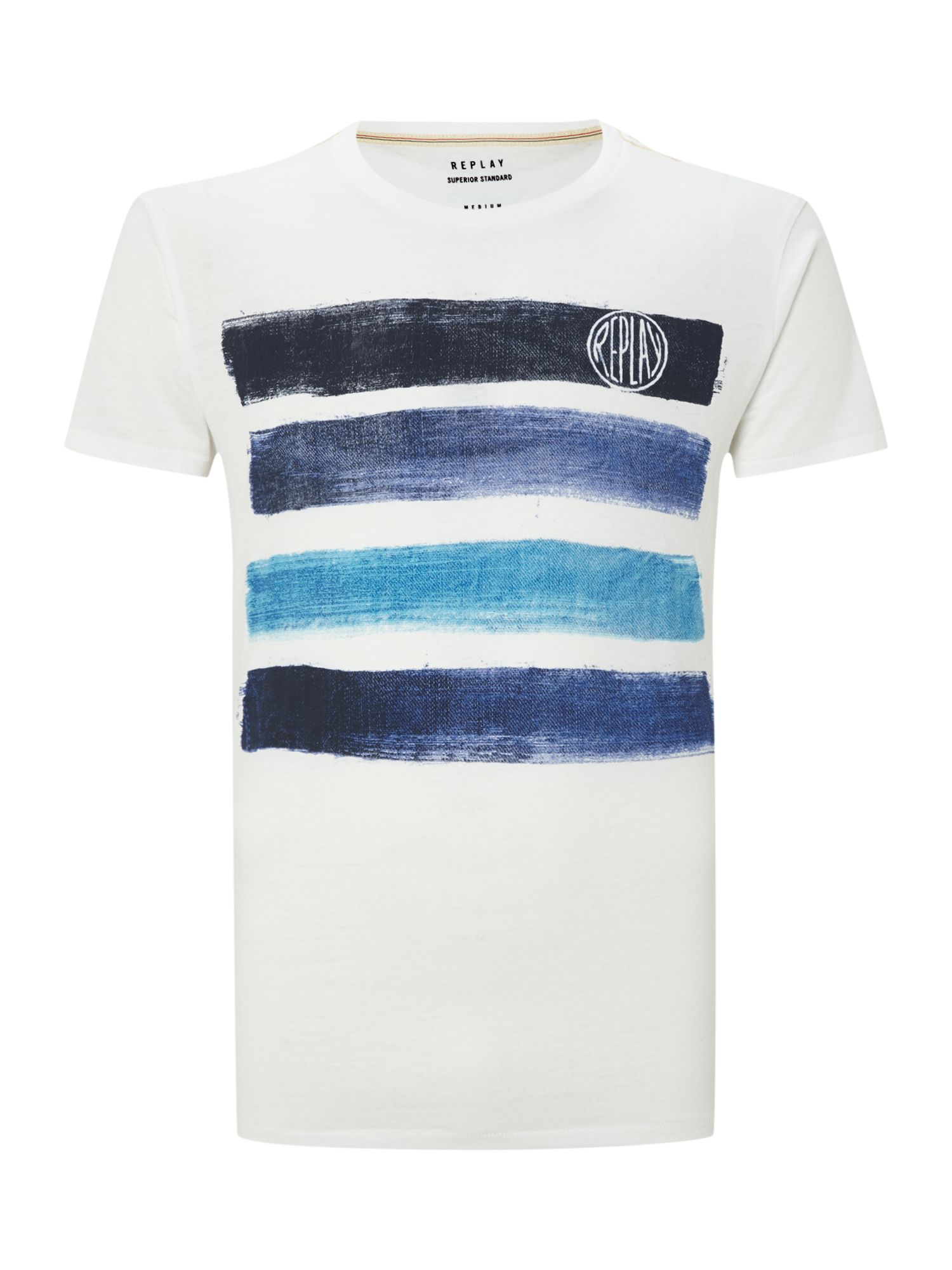 Regular fit tshirt with rib crew neck