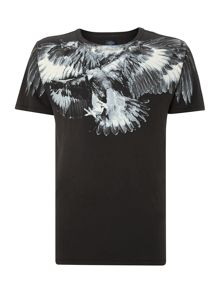 Loose Fit Tshirt With Wider Round Rib Collar.