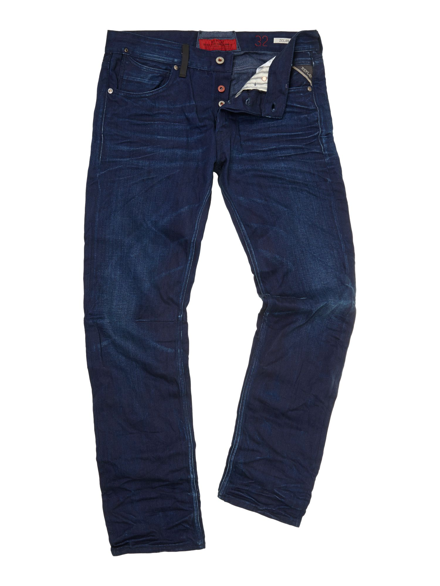 Zelan denim jeans, regular straight fit