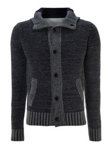 Wool cotton and fleece  jacket with buttons