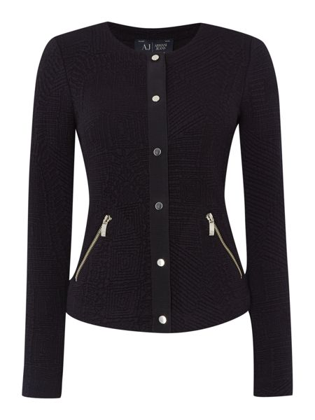 Armani Jeans Boucle Textured Jacket